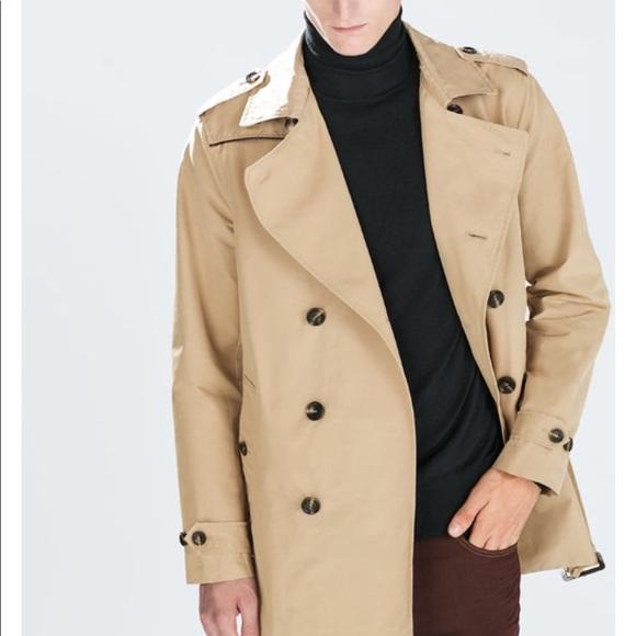 52a174af Zara Jackets & Coats   Man Double Breasted Trench Coat   Poshmark
